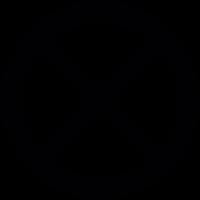Circular cross sign vector