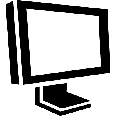 Screen of a monitor in perspective vector logo
