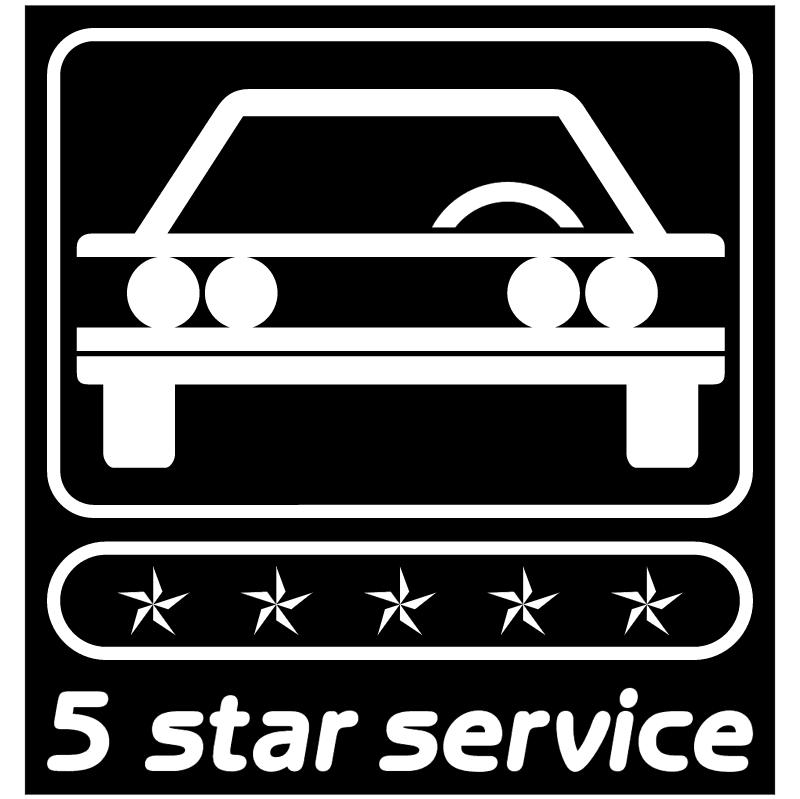 5 Star Service vector logo