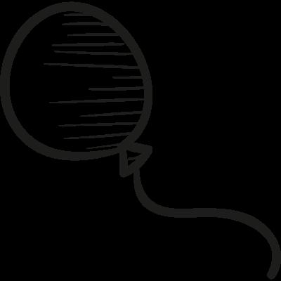 Flying balloon vector logo