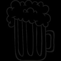 Foamy Beer Jar vector