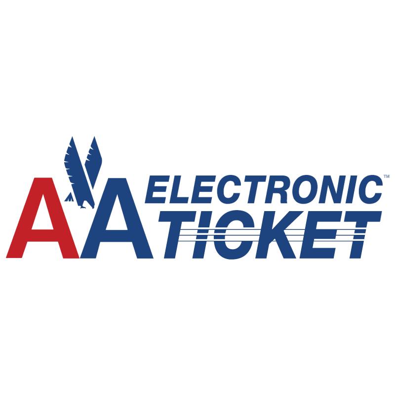 AA Electronic Ticket vector