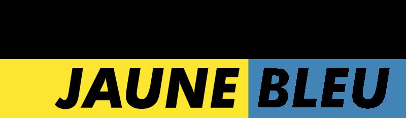 Canal jaune bleu logo vector