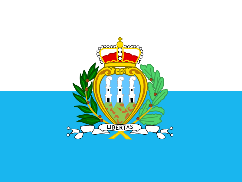 Flag of San Marino vector