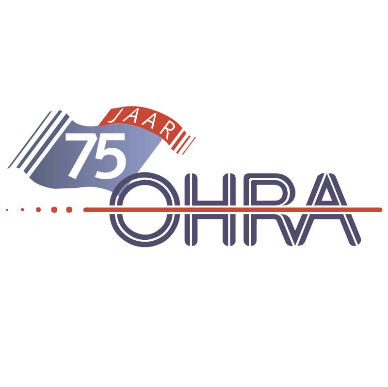 OHRA 75 jaar vector logo
