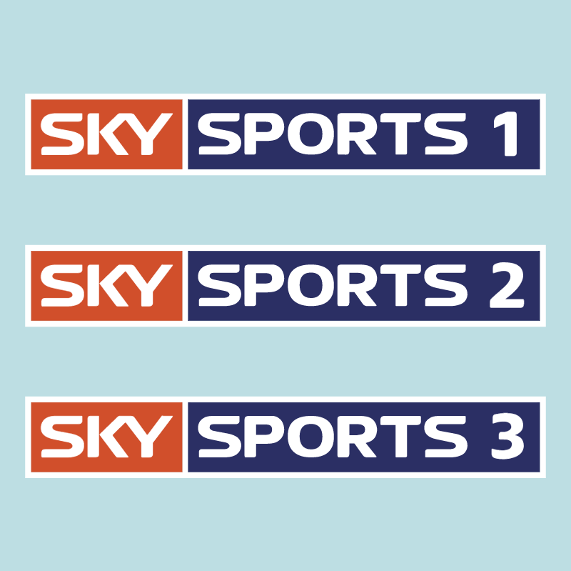 SKY sports 1,2 and 3 vector