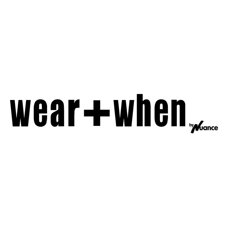 Wear+When vector logo