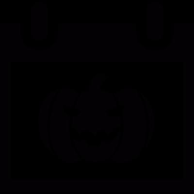 Halloween day calendar page vector logo