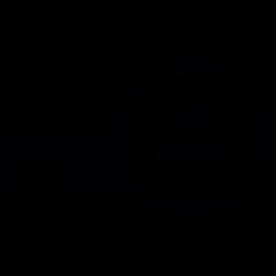 Eject hard disk vector logo