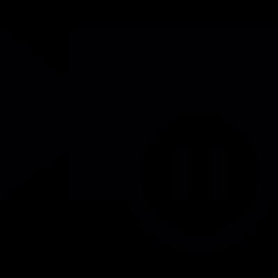Video pause button vector logo
