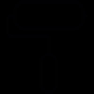 Painter roller vector logo