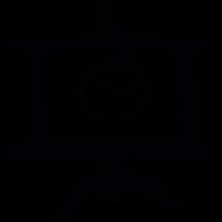 Chart presentation doodle vector