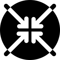 Four arrows pointing to center vector