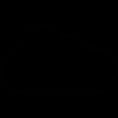 Cloudy weather, IOS 7 symbol vector logo
