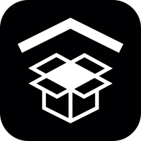 Open box with chevron symbol vector