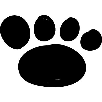 Footprint shape vector logo