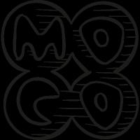 Mocospace drawn logo vector