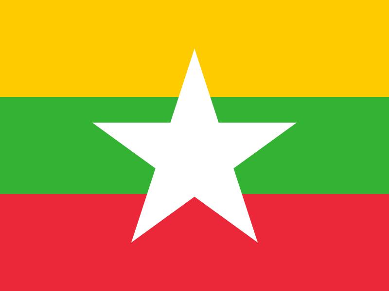 Flag of Myanmar vector logo