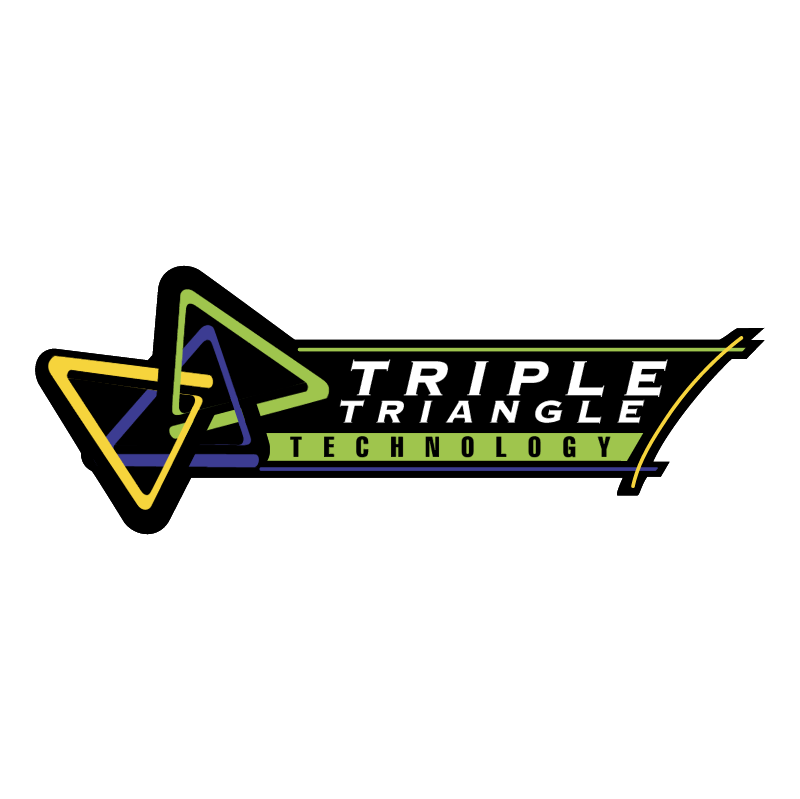 Triple Triangle Technology vector