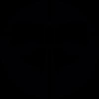 Celebration ribbon in a circle vector