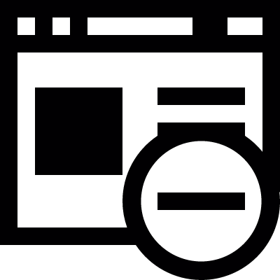 Remove Browser vector logo