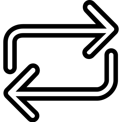 Loading arrows vector logo