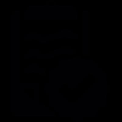 Checked clipboard file vector logo