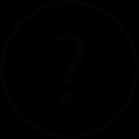 Question button vector