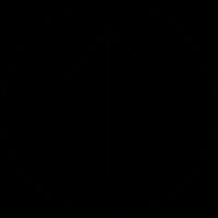 Arrow up inside a circle outline, IOS 7 symbol vector