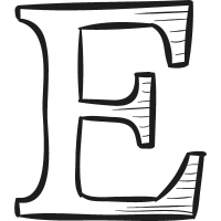 Etsy drawn logo vector