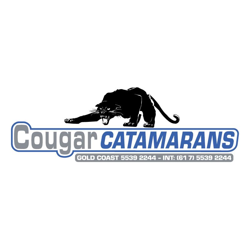 Cougar Catamarans vector
