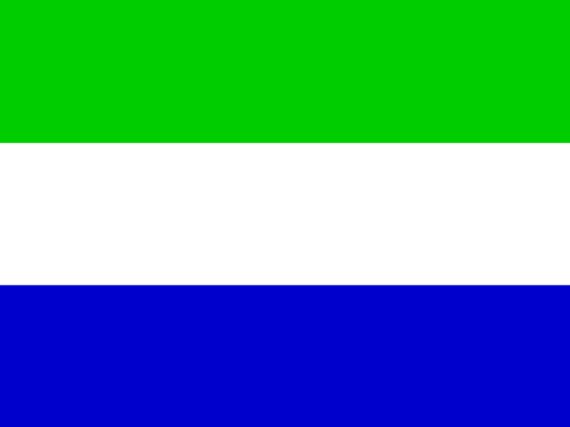 Flag of Sierra Leone vector logo