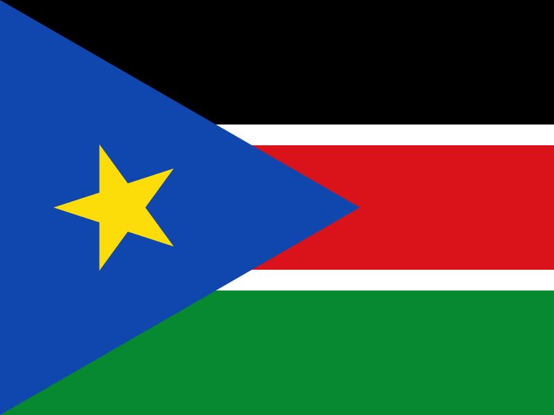 Flag of South Sudan vector