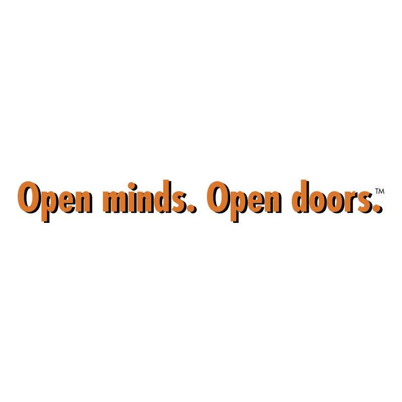 Open minds Open doors vector