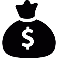 Bag with dollar sign vector