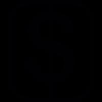 Dollar Sign Button vector