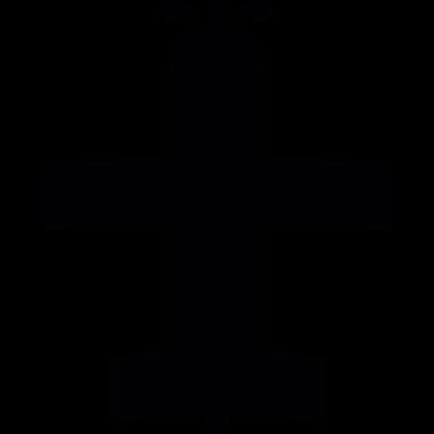 Army airplane shadow vector logo