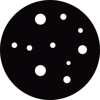 Moon with craters vector logo
