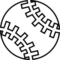 Baseball ball, IOS 7 interface symbol vector