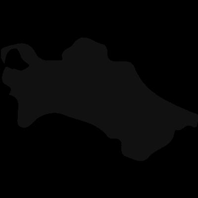 Turkmenistan country map black shape vector logo