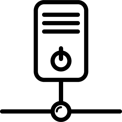 Connected to Network vector logo