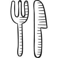 Big Fork and Knife vector