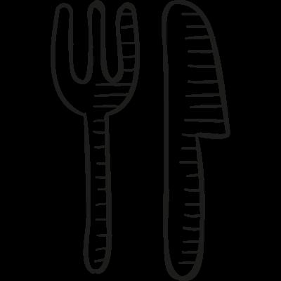 Big Fork and Knife vector logo
