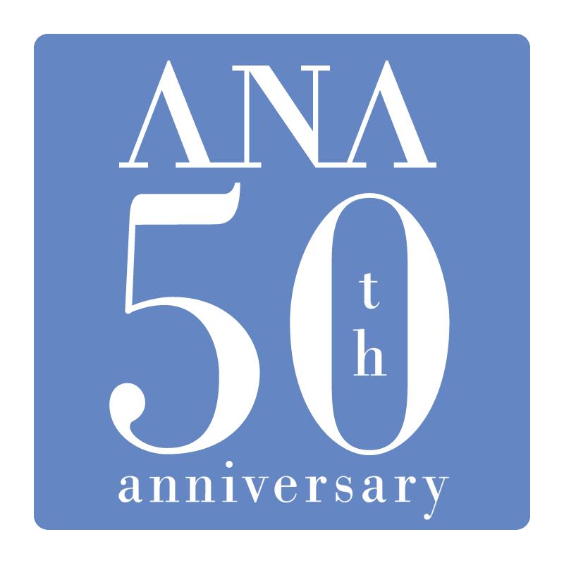 ANA 50th anniversary vector