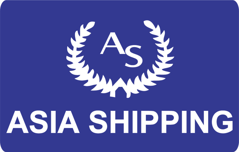 asia shipping vector