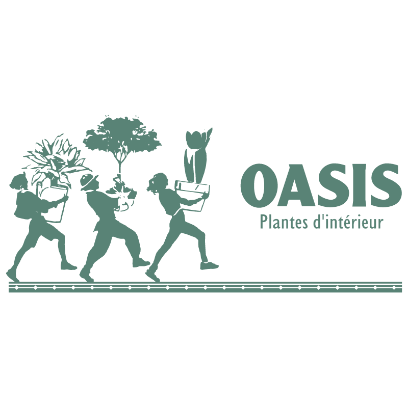 Oasis Plantes interieur vector