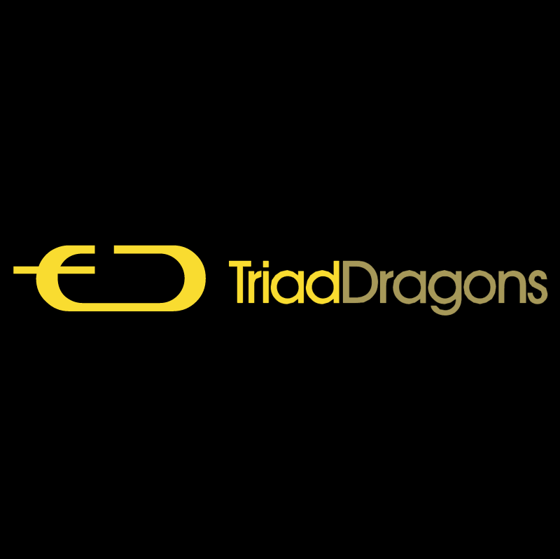 Triad Dragons vector logo