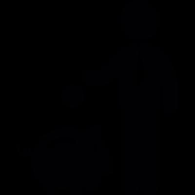 Man Saving Money vector logo