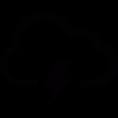 Storm cloud vector logo