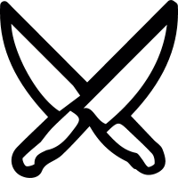 Twin blades vector